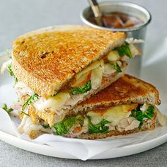 Toasted Turkey, Brie, and Apple Sandwich