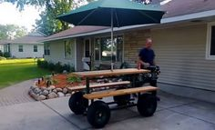 Gaspowered Motorized Picnic Table Cool Gadgets Gizmos - Motorized picnic table