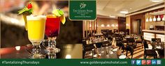 Unwind with signature cocktails & mocktails while listening to great music and relishing delicious snacks at Ambrosia, Delhi. Visit www.goldenpalmshotel.com for more details. ‪#‎TantalizingThursdays‬