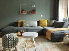 Shop the look: Gray, Sea Green with a touch of leather Shop the look: Grijs, Sea Green met een touch Room Inspiration, Home And Living, Living Room Decor, Home Living Room, Home, Interior Design Living Room, Interior, Home Deco, Room Interior