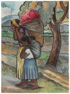 Diego Rivera (Mexican 1886-1957). Vendedora de flores - 1941.