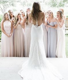 Bridesmaid first look Bridesmaid Robes, Wedding Bridesmaids, Custom Wedding Dress, Wedding Gowns, Wedding Photography Tips, Party Photography, Photography Ideas, Dallas Wedding, Bridal Portraits