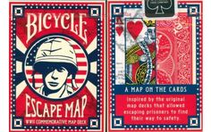 Bicycle Escape Map Playing Cards. $5.95. #playingcards #poker #games #magic #wwII