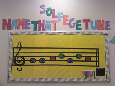 My bulletin board this year ;) Prizes to the first students to figure out the tune using solfege! Works to develop inner hearing and reading music notation. Students take a slip of paper and write their answer and put it in the envelope in the bottom corner.