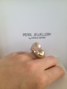 Souflée pearls cocktail ring from mariliissepper.com