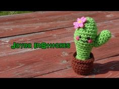 Amigurumi Cactus - Super Cute Crochet Stop Motion Video Along with a Tutorial - YouTube