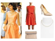 Jackie o long dresses orange