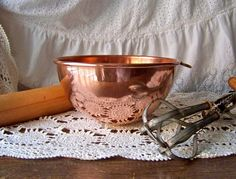 Vintage Copper Mixing Bowl by cynthiasattic on Etsy, $55.00