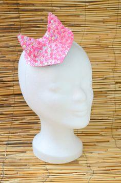 Pink kitty ears pink ears kitty headpiece by ZuckerstueckBerlin
