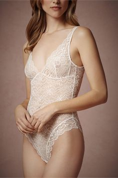 Mae Chantilly Lace Chemise in Lingerie View All Lingerie at BHLDN