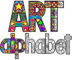 Art Alphabet downloadable to color