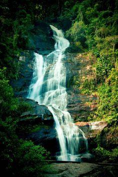 Waterfall in Tijuca National Park in Rio de Janeiro