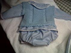 chaleco ,camisa y braguita para niño