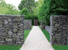 Love these stone cages. Could do so much like this....