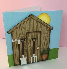 Leane Creatief - Cutting & Embossing Dies - Garden Tools, X-Cut 6 x 6 Embossing Folder - Woodgrain