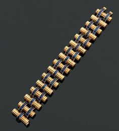 Cartier. Année 1956 Rare et magnifique bracelet articulé à l'imitation