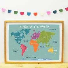 A Map Of The World poster/print | Paper Penknife