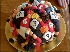 Rugby themed cake - For all your cake decorating supplies, please visit… Rugby League, Rugby Players, Cupcakes, Cupcake Cakes, 6 Cake, Rugby Rules, Rugby Cake, Rugby Girls, Grudge Match