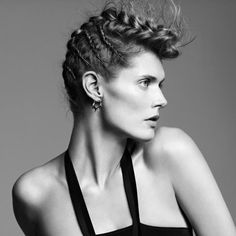 Malgosia Bela rocking the punk braid by James Pecis for French Vogue