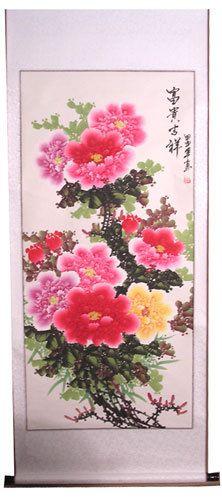 Oriental Furnishings - Chinese Silk Scroll:Chrysanthemums, $58.00 (http://www.orientalfurnishings.com/chinese-silk-scroll-chrysanthemums/)
