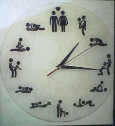 dirty clock, What time is it? Ali Mcgraw, What Time Is, Adult Humor, Boxer, Home Decor, Funny Stuff, Funny Things, Funny Pics, Cool Stuff