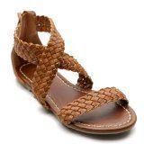 Ollio Women's Cross Braided Flat Sandal Shoes
