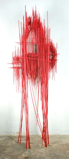 New Architectural Sculptures by David Moreno Appear As Three Dimensional Drawings | Colossal