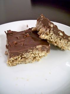 O'Henry Bars - these are yummy but kind of sticky and messy - not sure I would make them again... they fall apart unless you keep them refrigerated