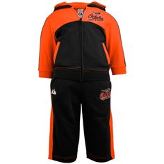 Baltimore Orioles Infant French Terry Full Zip Hoodie & Pants Jog Set