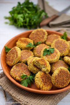 Vegan Recipes, Cooking Recipes, Falafel, Raw Vegan, Main Dishes, Good Food, Food And Drink, Pasta Carbonara, Appetizers