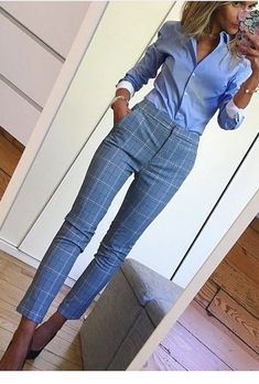 Nice blue work outfit Miladies net - fashionYou can find Work attire and more on our website. Classy Work Outfits, Summer Work Outfits, Work Casual, Cool Outfits, Outfit Work, Woman Outfits, Casual Office, Summer Work Clothes, Work Outfit Winter