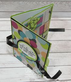 Video tutorial - tri-fold pocket card can be used as a greeting card or as a mini scrapbook or memory album. Stampin' Up! Picture Perfect Birthday. Spotlight with Lisa Joy Fold Card, Tri Fold Cards, Fancy Fold Cards, Pocket Cards, Folded Cards, Memory Album, Studio Cards, Card Making Supplies, Craft Supplies