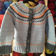 Ravelry: Fairly Isleish Cardigan Sweater for Boys and Girls pattern by Sarah Lora