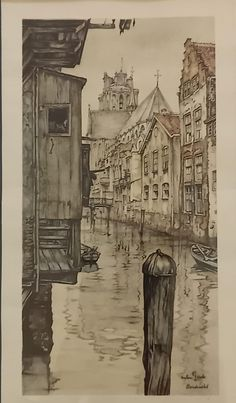 Anton Pieck, Animation, Ink, Watercolor, Painting, Pen And Wash, Watercolor Painting, Painting Art, Watercolour