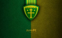 Download wallpapers MSK Zilina FC, 4k, Slovak football club, Zilina logo, leather texture, Fortuna liga, ?ilina, Slovakia, football