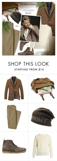 """""""NewChic 3.26"""" by monazor ❤ liked on Polyvore featuring Lands' End, Steve Madden, Lemaire, men's fashion and menswear"""