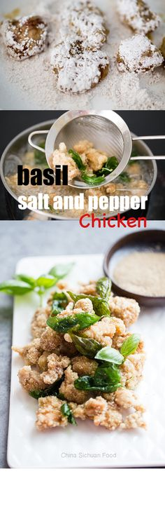 Basil salt and pepper chicken