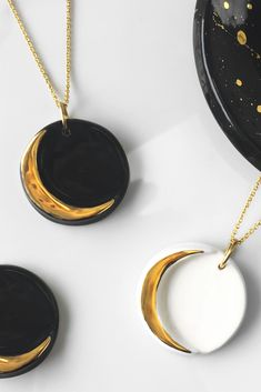 A 22k gold ceramic moon made just for you to wear on days when you need a little extra magic