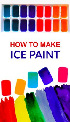 Chill the kids out this summer with this easy paint recipe great for arts, crafts, and sensory fun! We have been having lots of fun exploring with ice as we continue to find ways to stay cool this summer . Today, we got creative with some ice painting ! Summer Crafts For Kids, Summer Activities For Kids, Art Activities, Summer Kids, Projects For Kids, Art For Kids, Arts And Crafts For Kids Toddlers, Crafts With Babies, Summer Crafts For Preschoolers