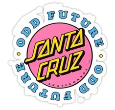 Providing their unique streetwear touch to Santa Cruz's signature iconic skate styling, Odd Future and Santa Cruz have joined forces to unveil their new line of accessories, apparel and skateboard hardgoods now available at Zumiez! Tumblr Stickers, Phone Stickers, Cool Stickers, Printable Stickers, Macbook Stickers, Preppy Stickers, Red Bubble Stickers, Santa Cruz Stickers, Handy Iphone