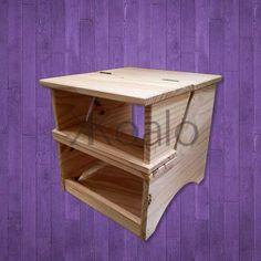 banco escalera plegable, de pino - koalo muebles -