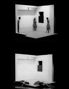 HANS DIETER SCHAAL     STAGE SET FOR 'STADTRÄUME' ('URBAN SPACES') AT THE BAUHAUS THEATER IN DESSAU, 1998