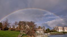 #rainbow over #VictoriaBC, who found the pot of gold?