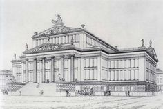 Karl Friedrich Schinkel. Gendarmenmarktin teatteri. 1812-21.