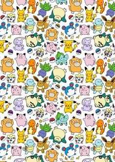 pokemon and pattern afbeelding