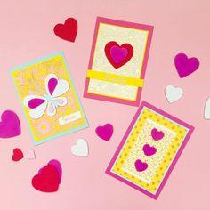 Softissydämistä ja pitsikartongeista teet helposti ja nopeasti kauniita kortteja. 50th