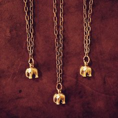 A personal favorite from my Etsy shop https://www.etsy.com/listing/228482046/mini-gold-elephant-necklace