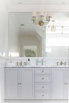 Traditional Master Bathroom - Found on Zillow Digs bottom cabs full length