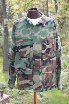 Vintage U. S. Army Camouflage Field Jacket or by ilovevintagestuff