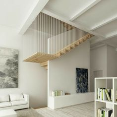 Interior Staircase, Home Stairs Design, Staircase Remodel, Stairs Architecture, Home Interior Design, Interior Architecture, House Design, Architecture Supplies, House Stairs